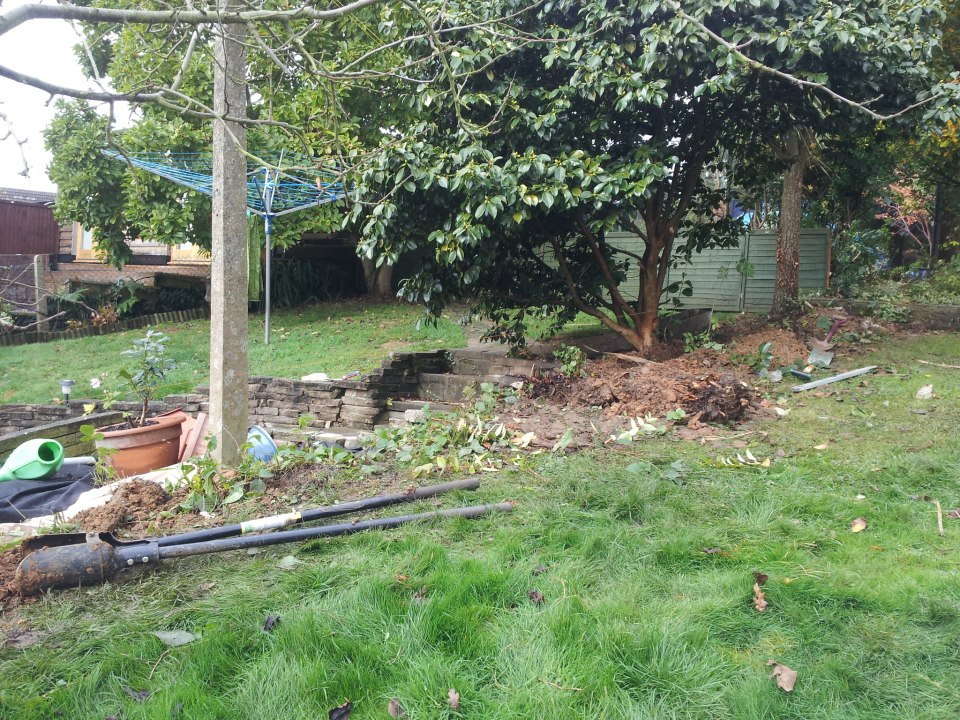Stepped fence in Billericay