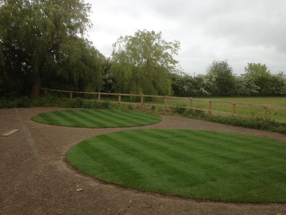 Turfed Grass Circle Lawns 2